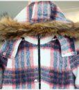 W044 เสื้อแจ็คเก็คสั้นลายสก๊อตแดงขาว 2
